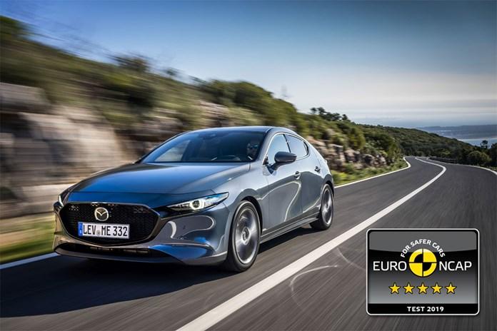 De Mazda3 heeft vijf sterren gescoord bij de EuroNCAP veiligheidstest