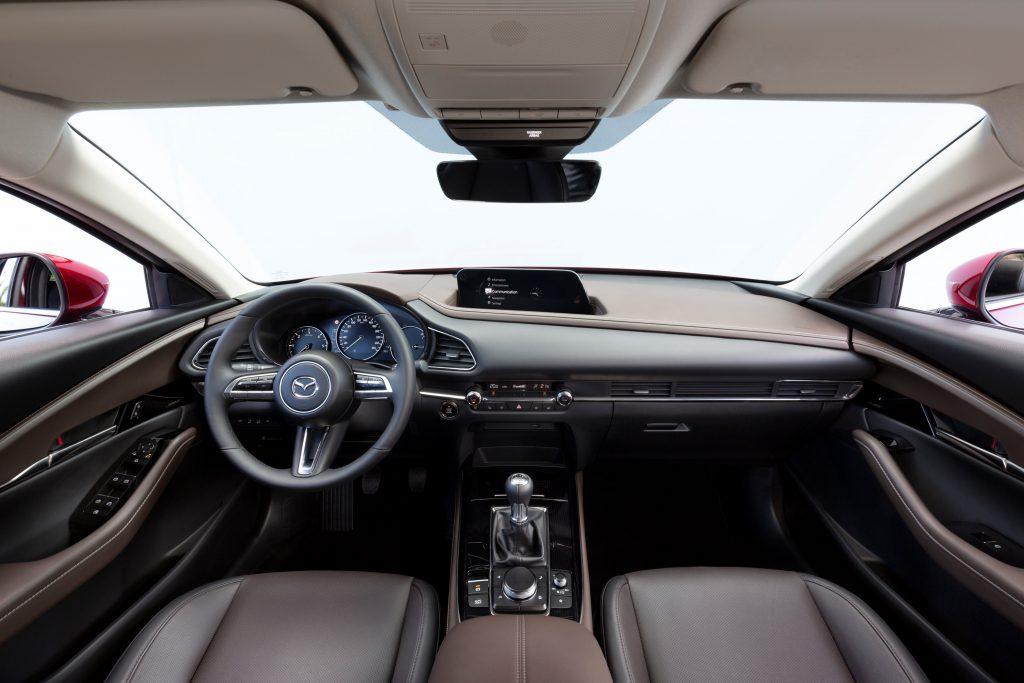 Interieur van de Mazda CX-30